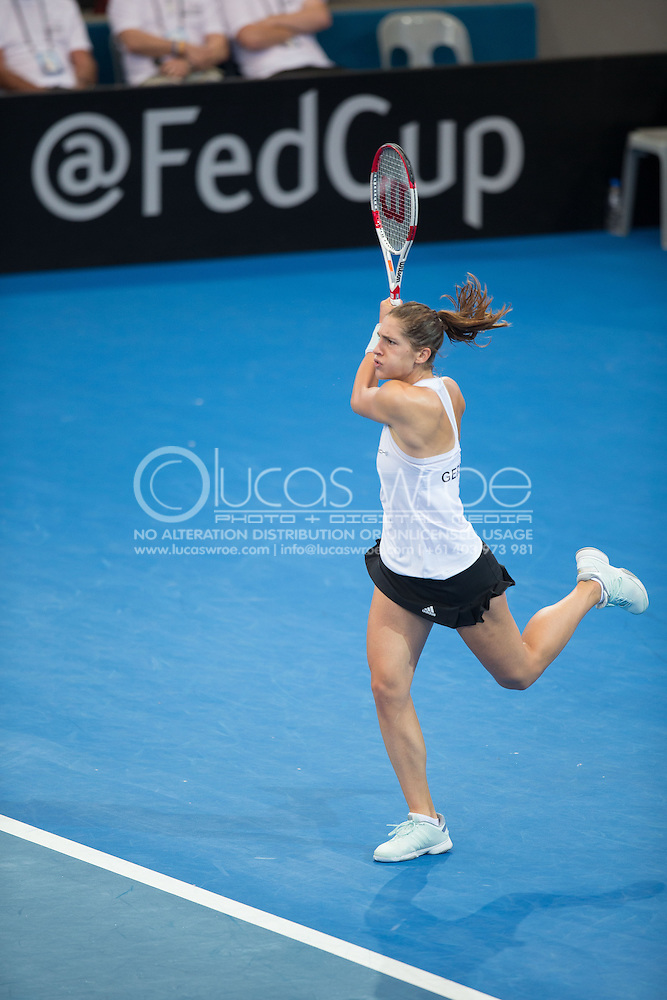 Andrea Petkovic (GER), April 19, 2014 - TENNIS : Fed Cup, Semi-Final, Australia v Germany. Pat Rafter Arena, Brisbane, Queensland, Australia. Credit: Lucas Wroe (Lucas Wroe)