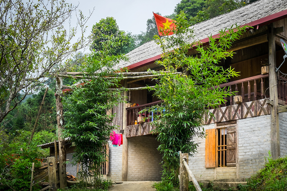 SAPA, VIETNAM - CIRCA SEPTEMBER 2014:  Typical Red Dao house of the Ta Phin Village in North Vietnam (Daniel Korzeniewski)