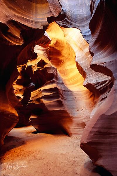Delicate slickrock formations in upper Antelope Canyon, Navajo Indian Reservation, Arizona (Russ Bishop/Russ Bishop Photography)