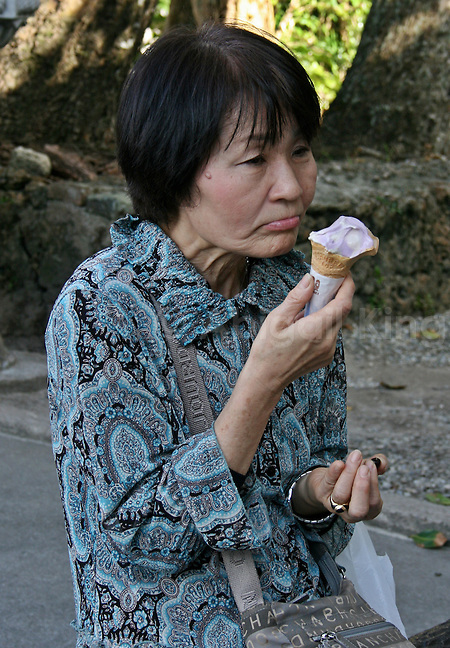 Purple Potato Ice Cream in Okinawa - the Secret to a long and healthy life