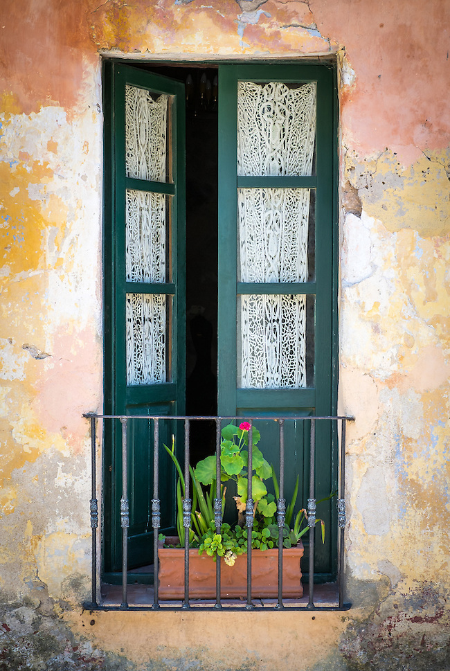 View of a typical window in the historic city of Colonia del Sacramento in Uruguay. (Daniel Korzeniewski)