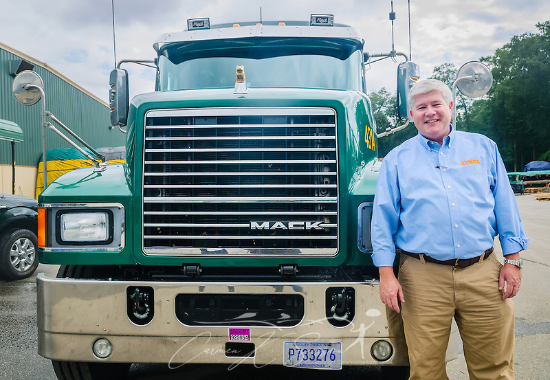 Superior Transportation CEO Pat Barber with a Mack truck