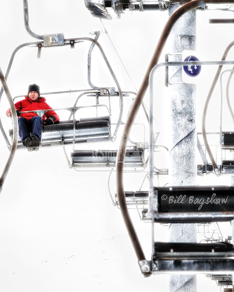 A walker descends from a round trip up Cairnwell chairlift at Glenshee. (Bill Bagshaw/M. Williams)
