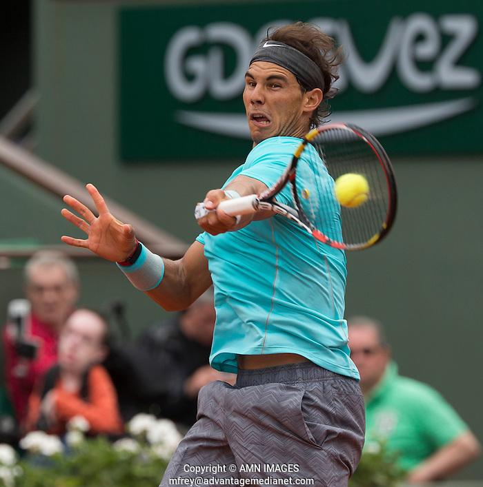 RAFAEL NADAL (ESP) Tennis - French Open 2014 -  Toland Garros - Paris -  ATP-WTA - ITF - 2014  - France -  2nd June 2014.  © AMN IMAGES (FREY/FREY- AMN Images)
