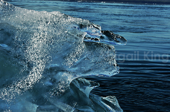 Images of icebergs on a sunny day in Alaska. Taken in LeConte Glacier Bay in the USA, these natural icy sculptures of floating ice are a common feature here. (Abigail King)