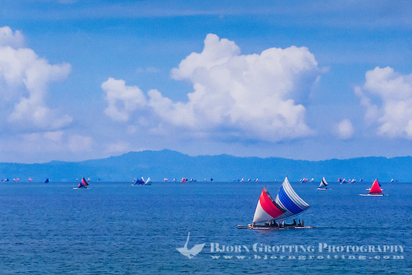 Nusa Tenggara, Lombok, Senggigi. Traditional sail vessels on west Lombok. (Bjorn Grotting)