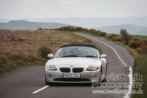 Silver BMW Z4 3.0 on Exmoor, Somerset, UK (Lewis Craik/Lewis Craik Photography)