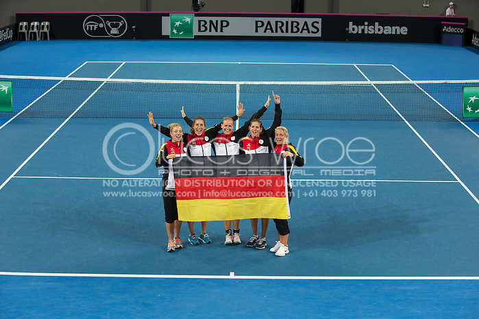 Germany Team Players, April 20, 2014 - TENNIS : Fed Cup, Semi-Final, Australia v Germany. Pat Rafter Arena, Brisbane, Queensland, Australia. Credit: Lucas Wroe (Lucas Wroe)