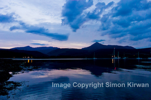 Brodick Bay & Goat Fell Sunset, Isle of Arran, Scotland – Travel Photography By Simon Kirwan