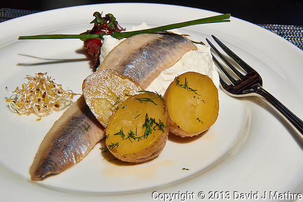 Herring and Potatoes in Riga, Latvia. Image taken with a Nikon 1 V2 camera and 10-100 mm VR lens (ISO 160, 30.3 mm, f/57, 1/600 sec). Semester at Sea Spring 2013 Enrichment Voyage. (David J Mathre)