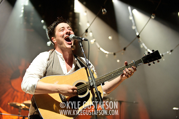 COLUMBIA, MD - June 9th, 2011: English folk band Mumford & Sons perform to a sold-out crowd at Merriweather Post Pavilion. The band's debut album, Sigh No More, was nominated for two Grammys. (Photo by Kyle Gustafson/For The Washington Post) (Photo by Kyle Gustafson / For The Washington Post)
