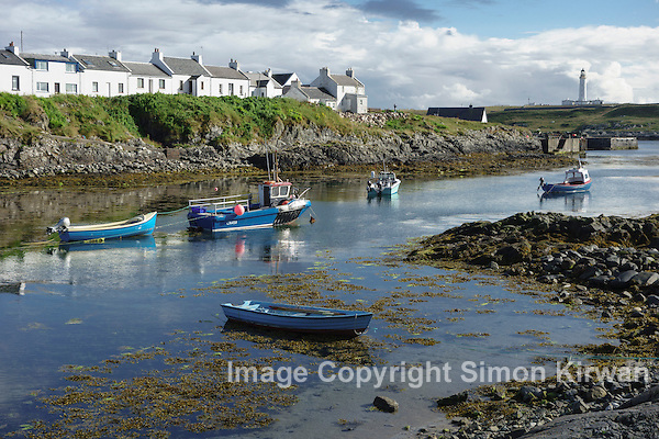 Portnahaven Harbour Isle Of Islay Inner Hebrides