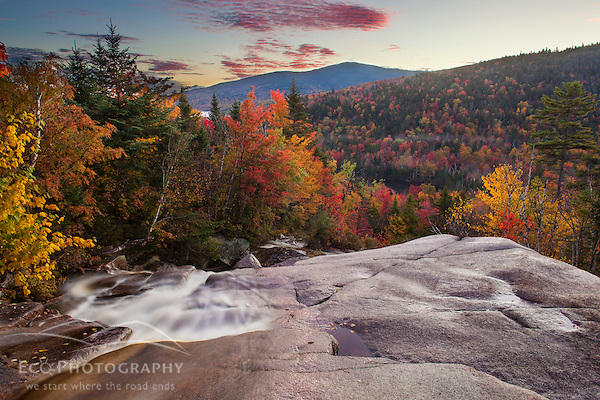 Zealand Falls in fall with Mount Tom in the distance. White Mountain National Forest, New Hampshire. (Jerry Monkman)