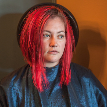 Melissa Reid at Inspriations Hair Salon in mid-town Anchorage  jrandmr@gci.net (© Clark James Mishler)