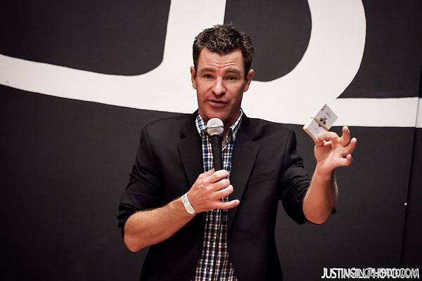 Bedrocktoberfest 2014 magician (Justin Gill)