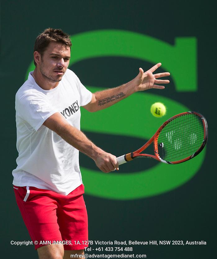 STANISLAS WAWRINKA (SUI) Tennis - Sony Open - ATP-WTA -  Miami -  2014  - USA  -  17 March 2014.  © AMN IMAGES (FREY/FREY- AMN Images)