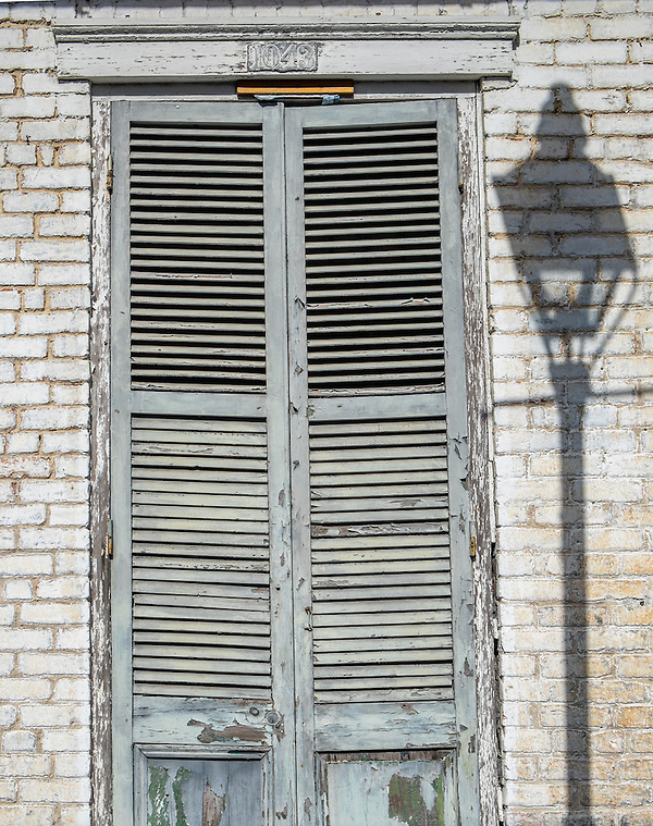NEW ORLEANS - CIRCA FEBRUARY 2014: Typical window and facade in the New Orleans French Quarter in Louisiana. (Daniel Korzeniewski)