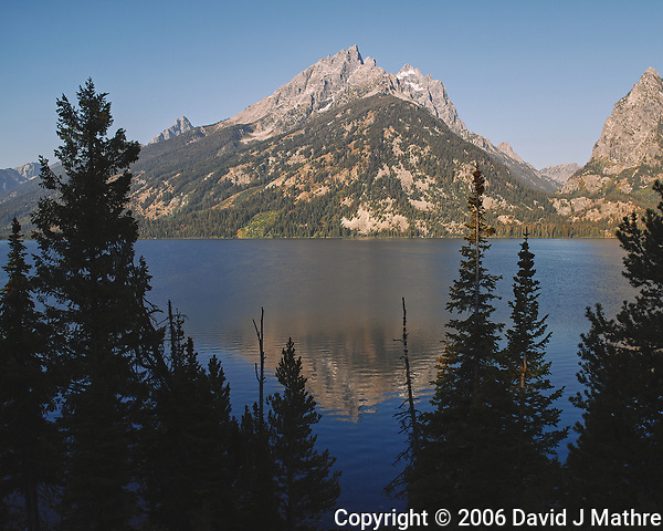 Early Morning Jenny Lake Reflections. Image taken with a Nikon D200 camera and 18-75 mm kit lens (ISO 100, 18 mm, f/5.6, 1/250 sec). (David J Mathre)