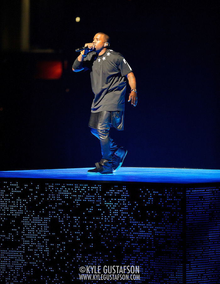 WASHINGTON, DC - November 3rd, 2011 - Kanye West performs at the Verizon Center in Washington D.C. as part of the Watch The Throne tour with Jay-Z.  (Photo by Kyle Gustafson/For The Washington Post) (Kyle Gustafson/FTWP)