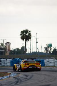 #91 CRS Racing Ferrari 430 GT2: Pierre Ehret, Tim Mullen (Darren Pierson)