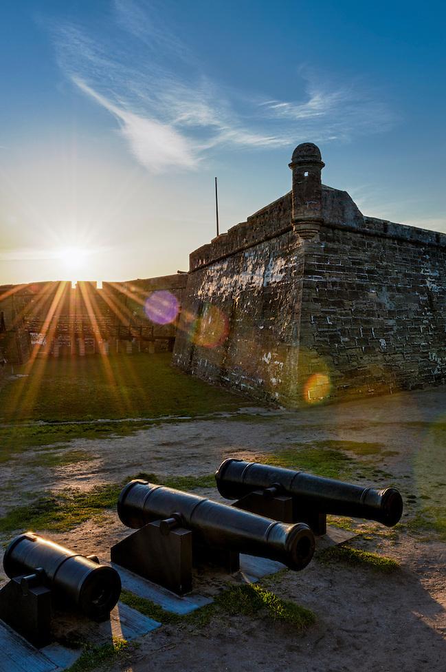 Historic San Marcos Castle in St. Augustine, Florida at sunset. (Daniel Korzeniewski)