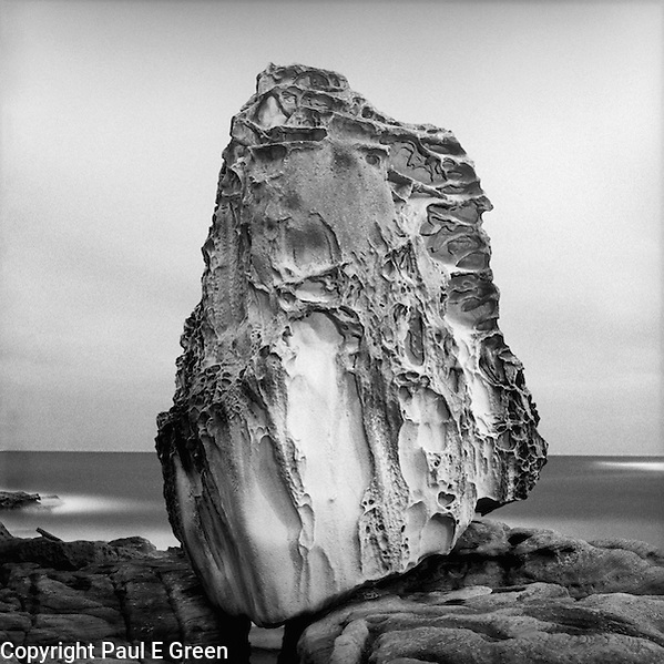 Bondi Rock,Sandstone,Photography of Bondi landscape by Paul Green,image Used as Ad for Kodak Tri-x film, Rolleicord camera (Paul Evan Green)