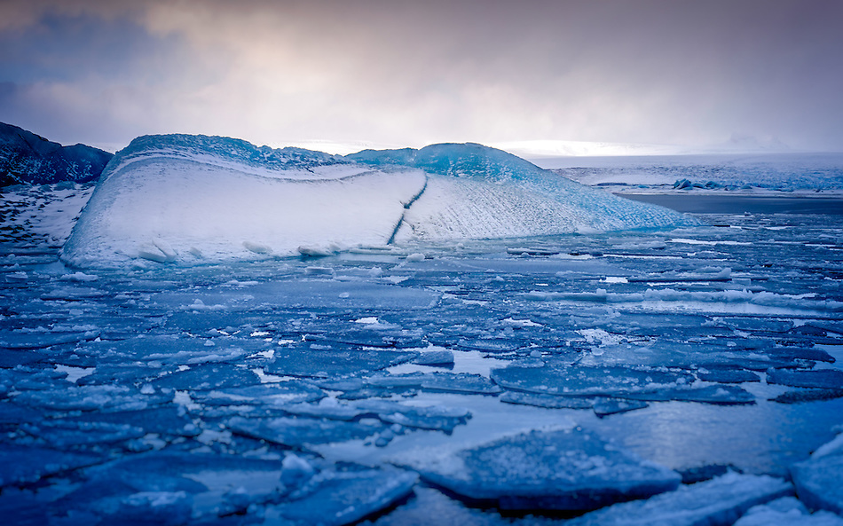 JOKULSARLON, ICELAND - CIRCA MARCH 2015: Iceberg in the  Jökulsárlón glacial lagoon in Iceland on the edge of Vatnajökull National Park (Daniel Korzeniewski)