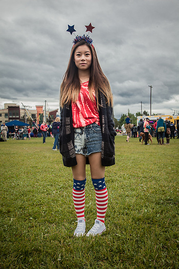 Muhua Fang at the Fourth of July celebration, Anchorage (Clark James Mishler)