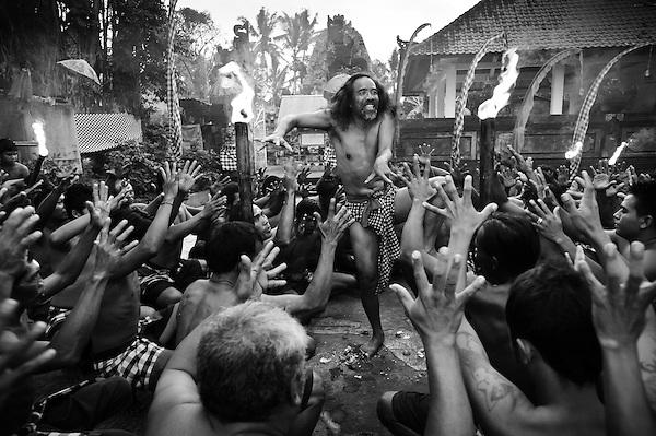 Kecak dance performance by Pak Reno, Ubud, Bali, Indonesia. (Matthew Oldfield)