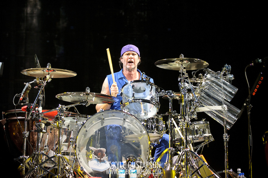 WASHINGTON, DC -  May 8th, 2012 - Chad Smith of the Red Hot Chili Peppers performs at the Verizon Center in Washington, D.C. The band was inducted into the Rock N Roll Hall Of Fame earlier this year and released their 10th studio album, I'm With You, in late 2011. (Photo by Kyle Gustafson/For The Washington Post) (Kyle Gustafson/For The Washington Post)