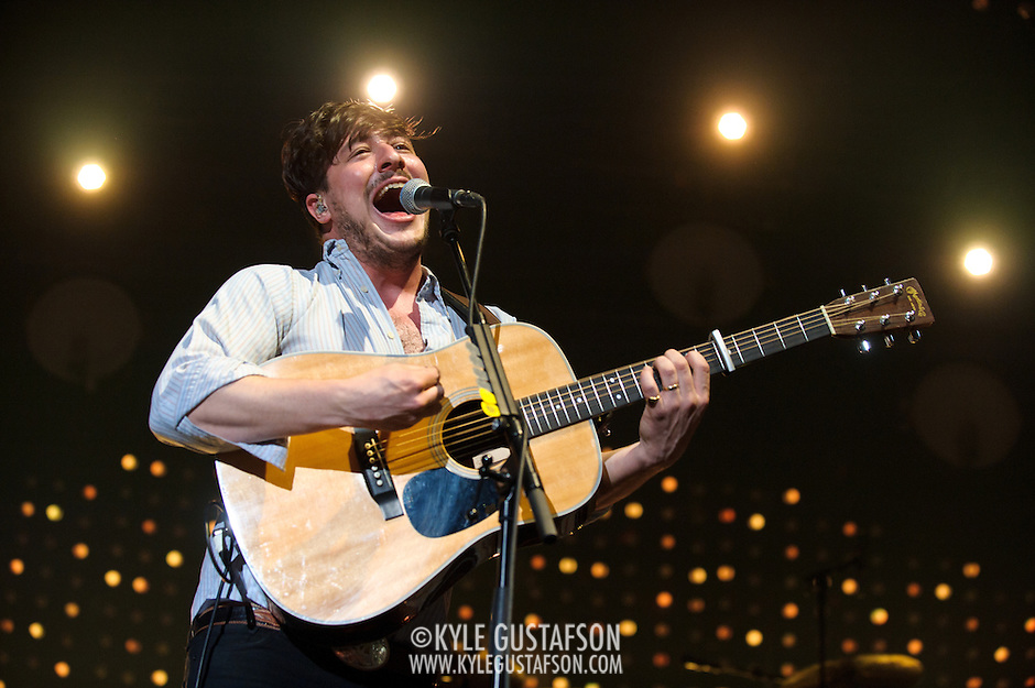 FAIRFAX, VA - February 13th,  2013 - Marcus Mumford of British folk outfit Mumford &amp; Sons performs at the Patriot Center in Fairfax, VA.  The band's sophomore album, Babel, debuted at number one on both the UK and US album charts and recently won the 2013 Grammy for Album of the Year. (Photo by Kyle Gustafson/For The Washington Post) (Kyle Gustafson/For The Washington Post)