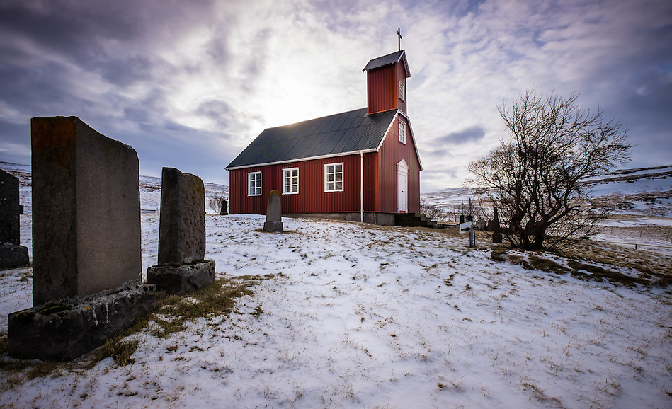 ICELAND - CIRCA MARCH 2015: Church in West  Iceland. (Daniel Korzeniewski)