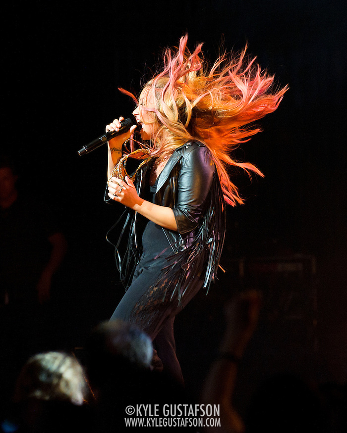 VIENNA, VA - June 25th, 2012 - Demi Lovato performs at  The Filene Center at Wolf Trap National Park for the Performing Arts as part of her 2012 Summer Tour. Lovato announced on Twitter on April 4th 2012 that she had begun writing for her forthcoming album. (Photo by Kyle Gustafson/For The Washington Post) (Kyle Gustafson/For The Washington Post)