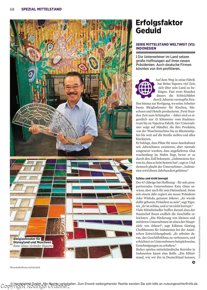 2015 10 09 Tearsheet WirtschaftsWoche SMEs in Indonesia print Eztu Glass (Rodrigo Ordonez)