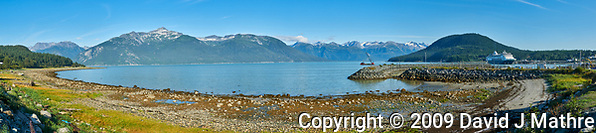 Haines Beach and Harbor Panorama. (David J Mathre)