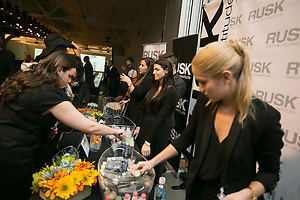 RUSK Sponsor Booth at by Fashion Week New York event photographer Jeffrey Holmes