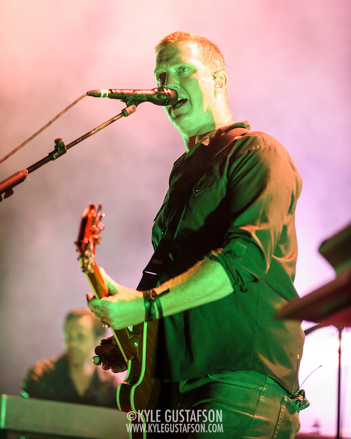 "COLUMBIA, MD - July 17th, 2014 - Josh Homme of Queens of the Stone Age performs at Merriweather Post Pavilion. The band's 2013 album, ""…Like Clockwork,"" was the group's first album to top the US Billboard 200 album charts. (Photo by Kyle Gustafson / For The Washington Post) (Kyle Gustafson/For The Washington Post)"