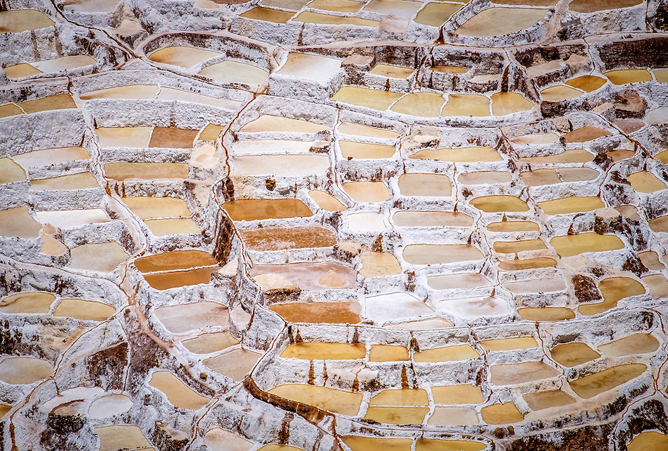 MARAS, PERU - CIRCA OCTOBER 2015: Marasal salt plains near the village of Maras in the Cusco region known as Sacred Valley (Daniel Korzeniewski)