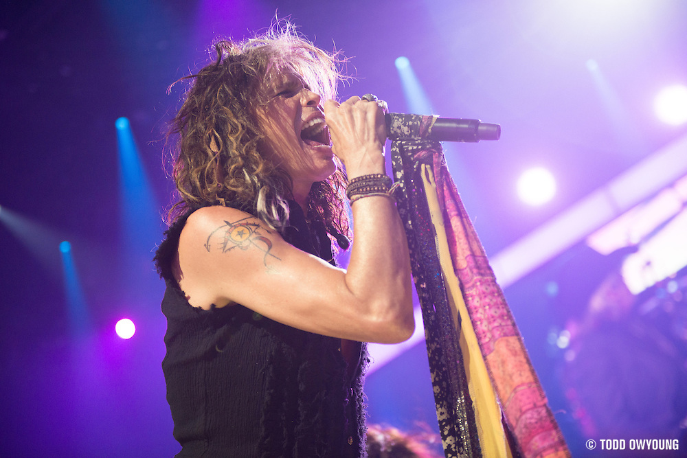 Aerosmith performing at the iHeartRadio Music Festival in Las Vegas, Nevada on September 22, 2012. (Todd Owyoung)
