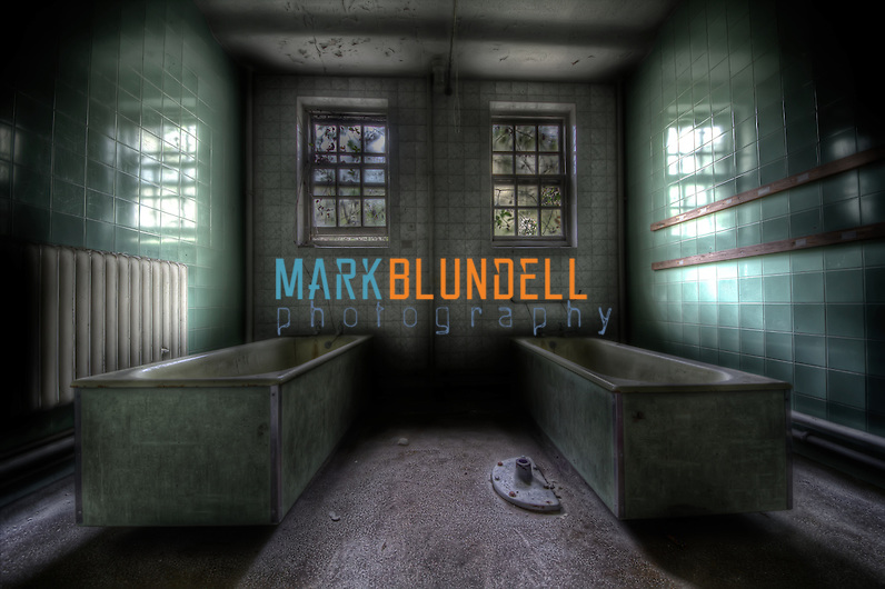 Dual baths in the female ward at Runwell Asylum (Mark Blundell)