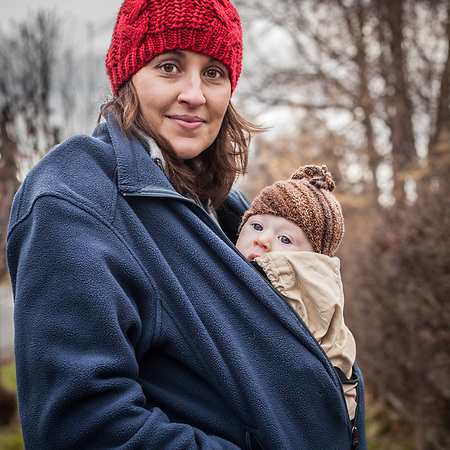Stacy Schitz Reece and her four month old son, Jack, South Addition, Anchorage (Clark James Mishler)