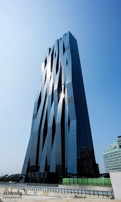 DC Tower 1 (Dominique Perrault), Donaucity, Österreich, Wien, Donaustadt, Kaisermühlen (Dieter Schewig)