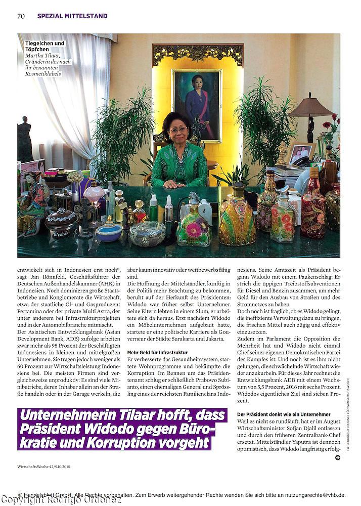 2015 10 09 Tearsheet WirtschaftsWoche SMEs in Indonesia print Martha Tilaar (Rodrigo Ordonez)