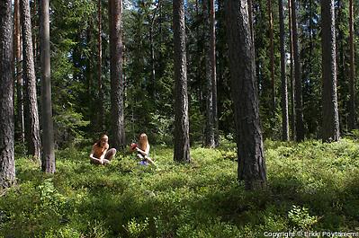 Mustikassa Repovedellä. (© Erkki Pöytäniemi)