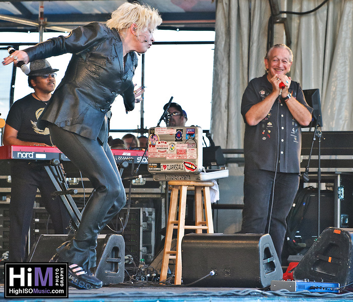 Cyndi Lauper plays at Jazz Fest 2011 in New Orleans on day 4, with Charlie Musselwhite on harmonica. (Golden G. Richard III)