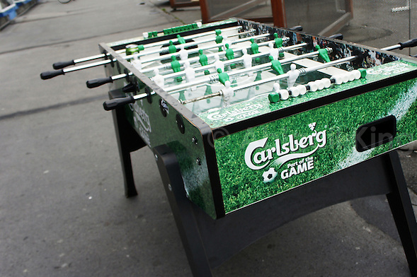 Carlsberg Table Football in Street, Meatpacking District, Copenhagen