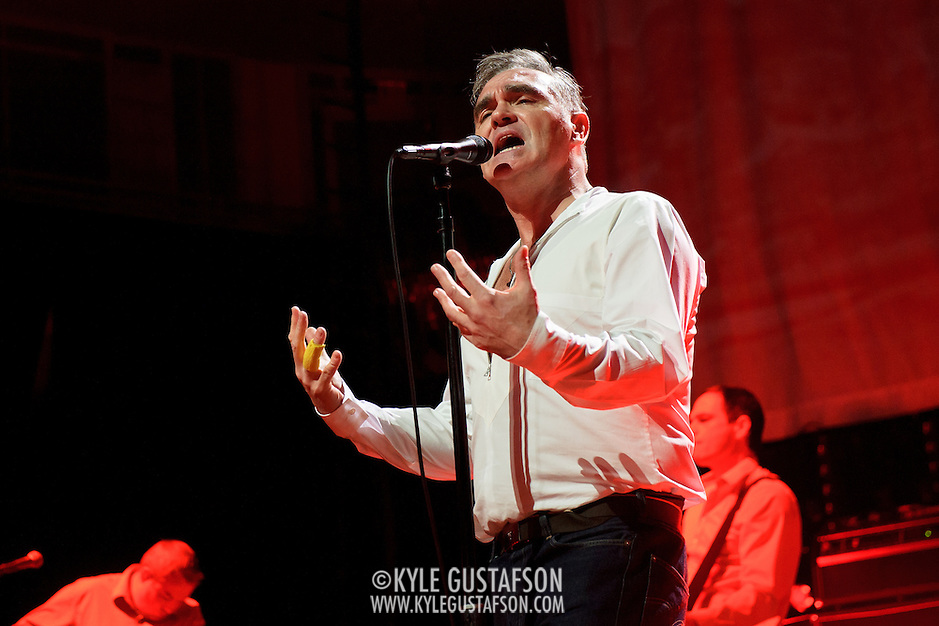 "BETHESDA, MD, DC - January 16th, 2013 - British music legend Morrissey performs at the Strathmore Music Hall. His set included solo hits like ""Everyday Is Sunday"" as well as material from The Smiths, such as ""Still Ill.""( Photo by Kyle Gustafson/For The Washington Post) (Kyle Gustafson/For The Washington Post)"