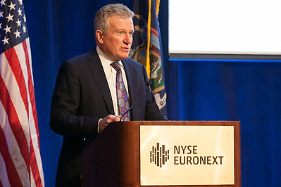 Duncan Niederauer, CEO, NYSE Euronext, and President, Intercontinental Exchange Group at the 100 Best W!se High Schools Teaching Personal Finance 2014 were honored in a ceremony held at the NYSE/Euronext. (Jeffrey Holmes/JeffreyHolmes.com)