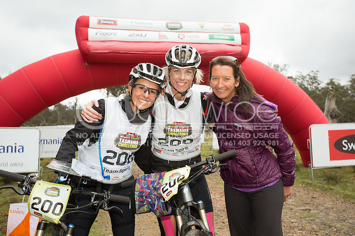 Team Spirit (Layne Beachley, Nikki Fogden-Moore and Emma Snowsill). Adventure Racing. Swisse Mark Webber Challenge 2013. Tasmania, Australia. 28/11/2013. Photo By Lucas Wroe (Lucas Wroe)