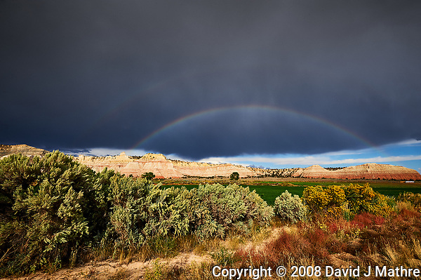 Double Rainbow in Utah. Image taken with a Nikon D3 camera and 14-24 mm f/2.8 lens (ISO 200, 17 mm, f/16, 1/80 sec). Raw image reprocessed in 2019 with Capture One Pro. (David J Mathre)